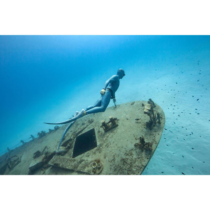 Broek voor freediving-pak neopreen 3 mm FRD900 groengrijs