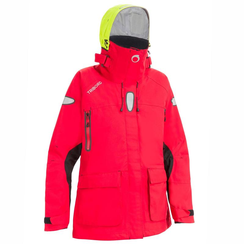 Offshore Women's Waterproof Sailing Jacket - Red