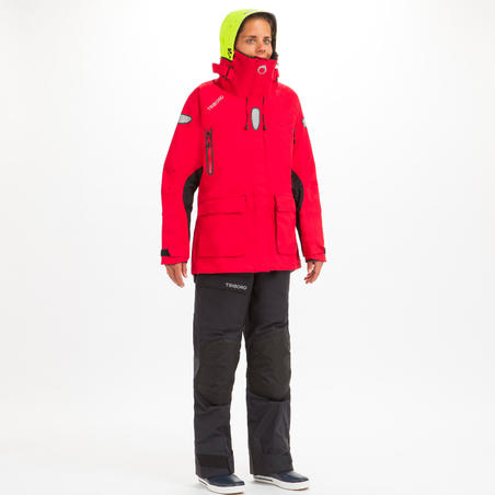 Offshore Women's Waterproof Sailing Jacket - Red