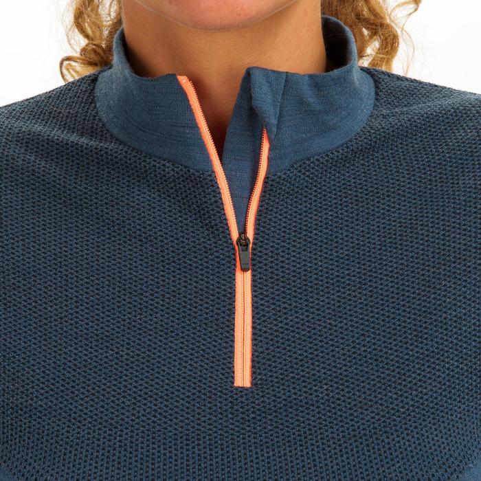 Warm shirt met lange mouwen voor zeilen dames Sailing 500 grijs