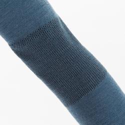 Warm shirt - baselayer voor dames Sailing 500 lange mouwen merinowol grijs