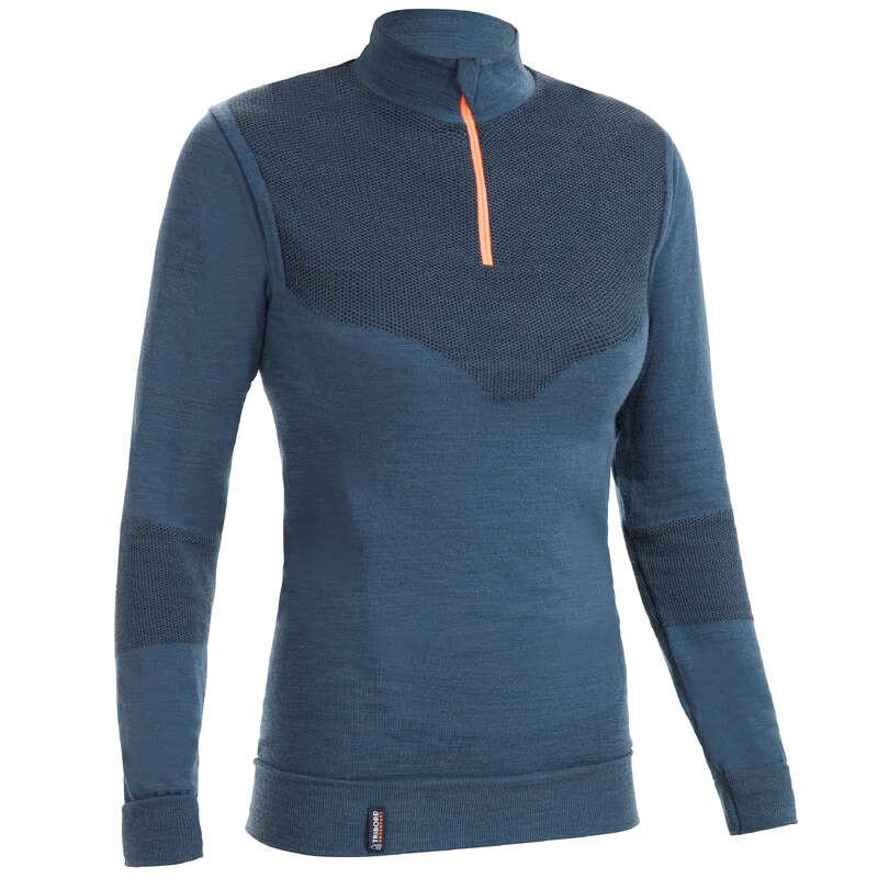 Abbigliamento crociera tempo freddo donna Sport Acquatici - Maglia Termica 500 grigia TRIBORD - DONNA VELA