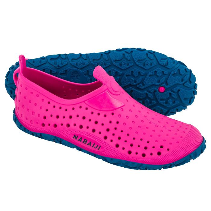 CHAUSSONS DE PISCINE FILLE AQUADOTS 100 ROSE