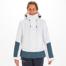 Veste de voile imperméable Femme SAILING 300 Blanc gris