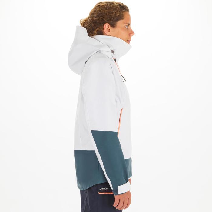 Segeljacke Wasserdicht Winddicht Sailing 300 Damen weiss/grau