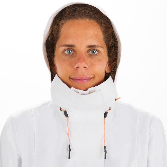 Veste imperméable coupe-vent de voile Femme SAILING 300 Blanc gris