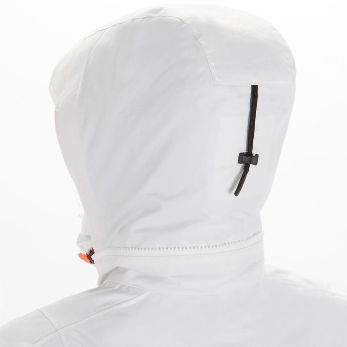 女款航海防水外套Sailing 300-白色/灰色