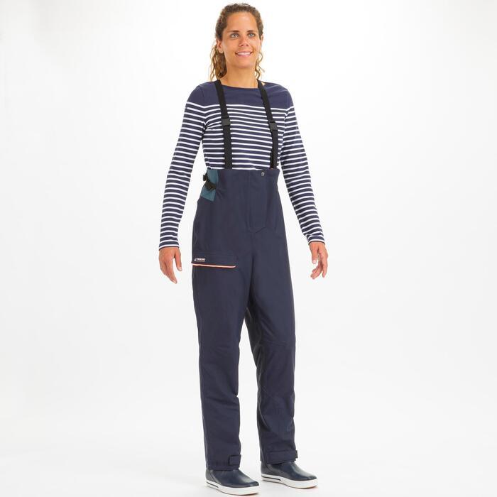 Waterdichte zeilbroek dames Sailing 300 marineblauw