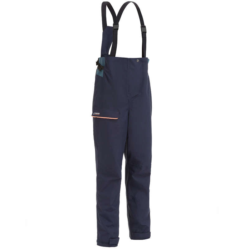 CRUISING RAINY WEATHER WOMAN CLOTHES Sailing - W Salopettes SLG300 - Navy TRIBORD - Sailing Clothing