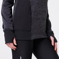Kapuzen-Sweatshirt Run Warm Damen schwarz