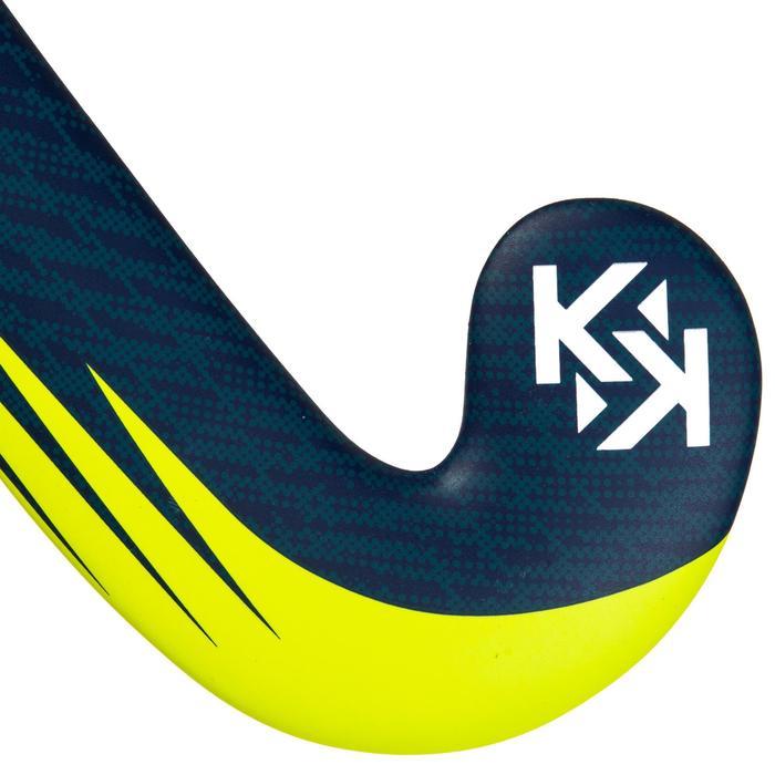 Zaalhockeystick voor gevorderde volwassenen 20% carbon low bow FH520 blauw/geel