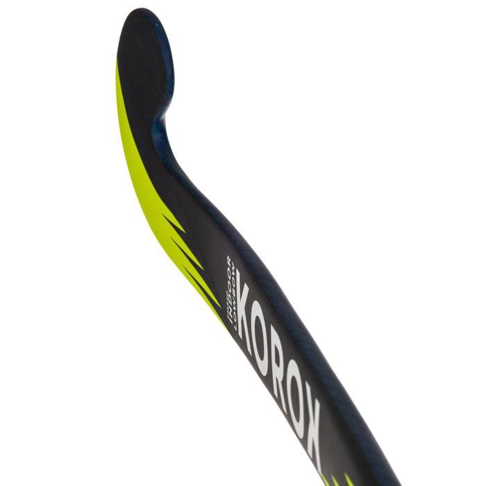 Stick de hockey indoor adulte confirmé 20% carbone Low Bow FH520 bleu et jaune