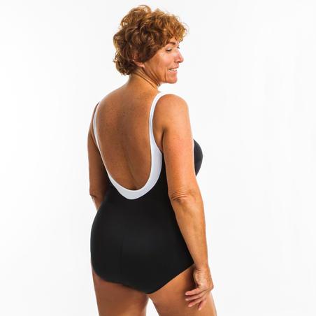 Vestido de baño Moldeador Deportivo Aquagym Mujer Nabaiji Karli Boo Negro Blanco