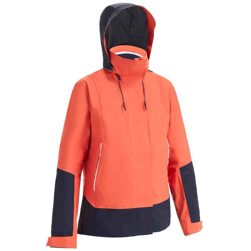 Jachetă Impermeabilă Navigație Sailing 300 Roșu Damă