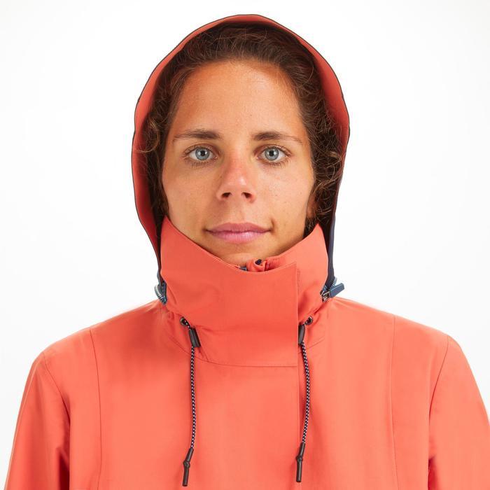 Veste de voile imperméable Femme SAILING 300 Rouge clair