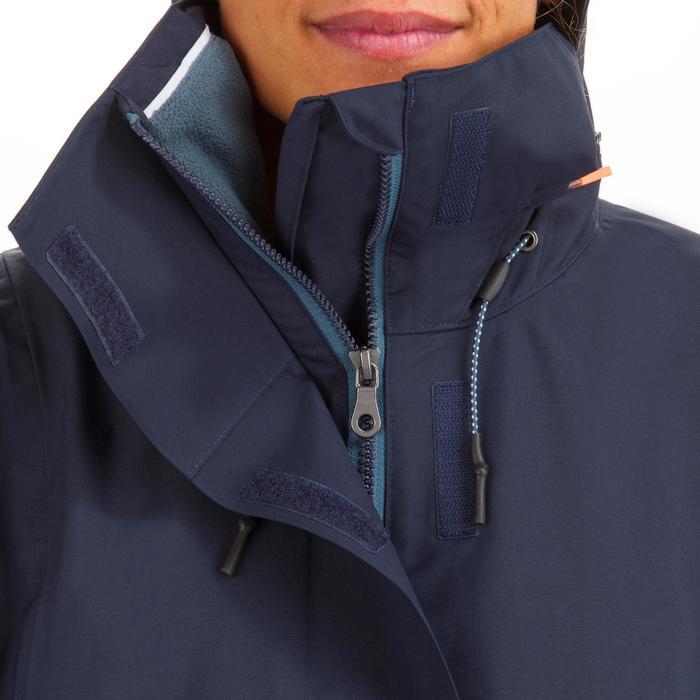 Veste imperméable coupe-vent de voile Femme SAILING 300 Navy