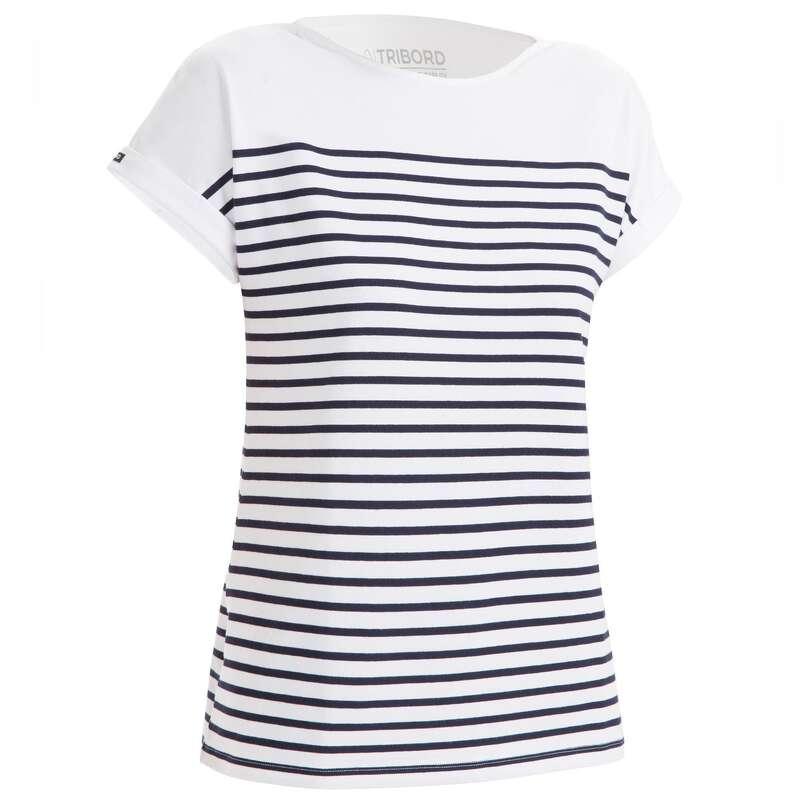 Női regatta melegidős ruházat Vitorlázás, hajózás, dingi - Női póló hajózáshoz Sailing100 TRIBORD - Női vitorlás ruházat, cipő