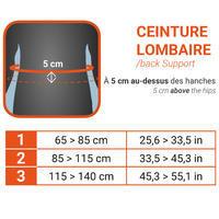 Cinturón lumbar de sujeción para hombre/mujer SOFT 100 negro