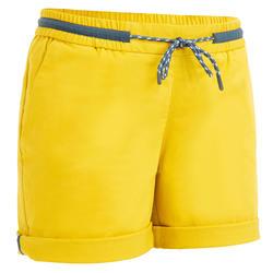 Pantaloncini vela donna SAILING 100 gialli