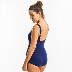 Maillot de bain une pièce femme gainant d'aquagym Mary bleu