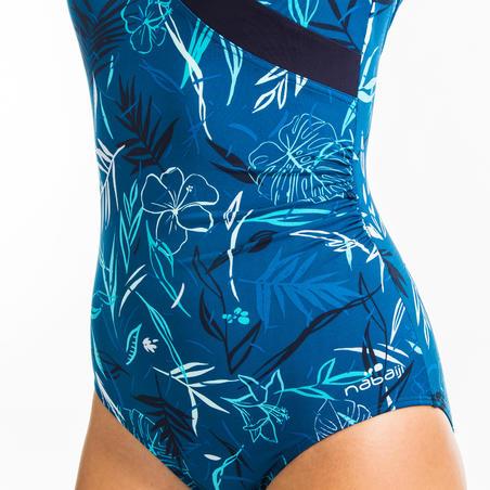 Maillot de bain 1 pièce Aquagym femme Karli Yuka bleu