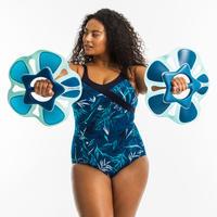 Women's aquafitness one-piece body-sculpting yuka - blue