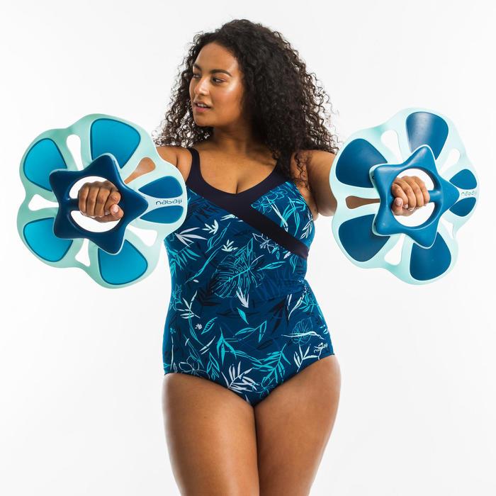 Corrigerend badpak voor aquagym Yuka blauw