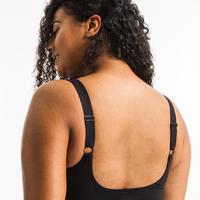 Women's Aquagym one-piece body-sculpting swimsuit Mary Yuka - black