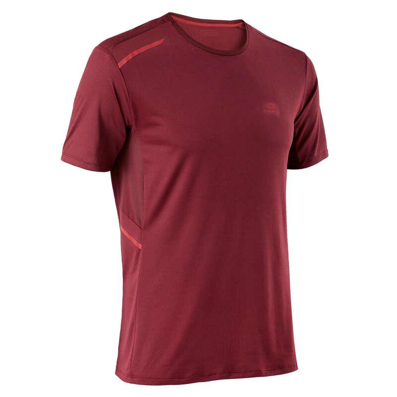 REGULAR MAN JOG WARM/MILD WTHR CLOTHES Clothing - RUN DRY+ T-SHIRT M BURGUNDY KALENJI - Tops