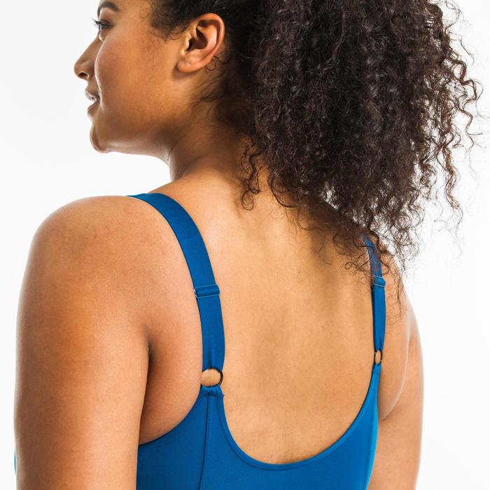 Corrigerend badpak voor aquagym Mary zwart/blauw