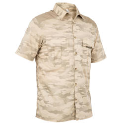 短袖狩獵襯衫100-半色調迷彩/土色
