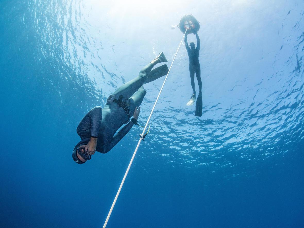 Free Diving en mer