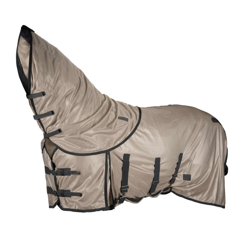 HORSE CARE HOT WEATHER Horse Riding - Fly Sheet - Beige FOUGANZA - Saddlery and Tack