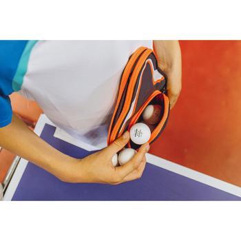 Tafeltennis hoesje TTC 130 grijs/oranje