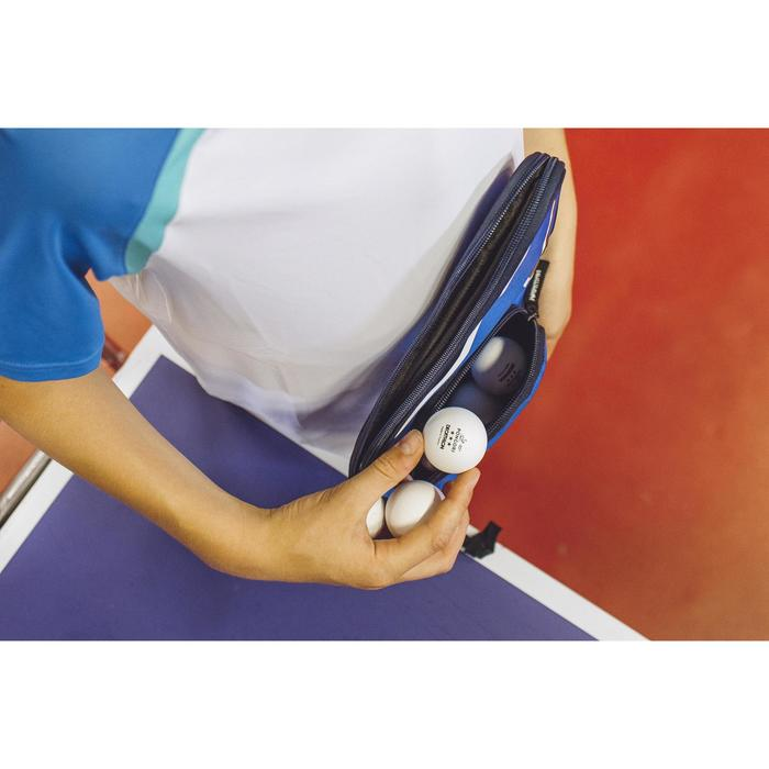 HOUSSE DE RAQUETTE DE TENNIS DE TABLE TTC 130 BLEUE