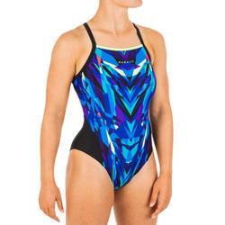 Sportbadpak voor zwemmen dames Lexa kal blauw