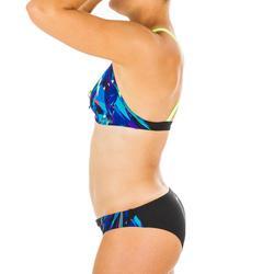 Bas de maillot de bain de natation femme Jana kal noir et bleu