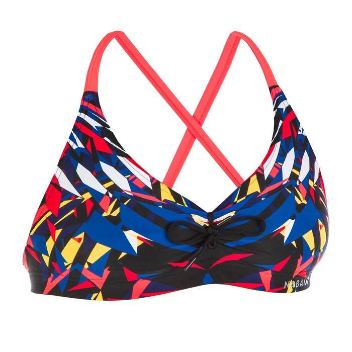 Bikinitop voor zwemmen dames uiterst chloorbestendig Jana kal rood/blauw