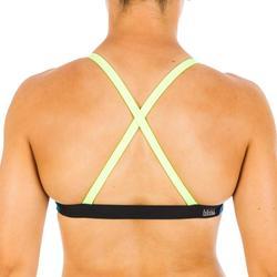 Brassière de natation femme ultra résistante au chlore Jana kal bleu et jaune
