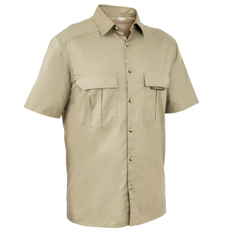 Solognac Overhemd 100 met korte mouwen voor de jacht