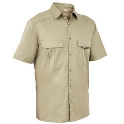 Camisa de Caça Manga Curta 100 Verde-claro