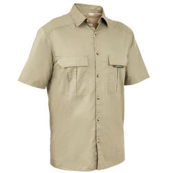 100 Short Sleeve Hunting Polo Shirt - Light Green