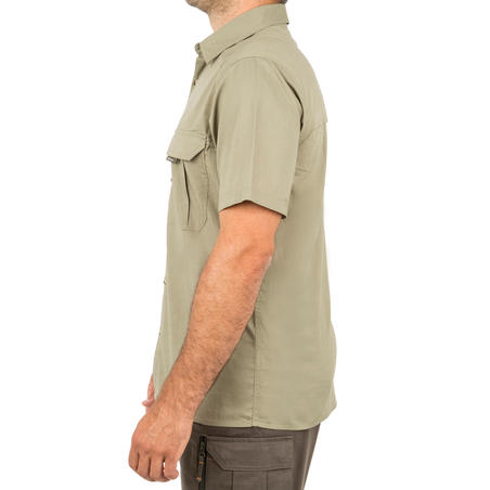 100 Hunting short-sleeved shirt Light green