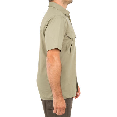 100 Short Sleeve Hunting Shirt - Light Green