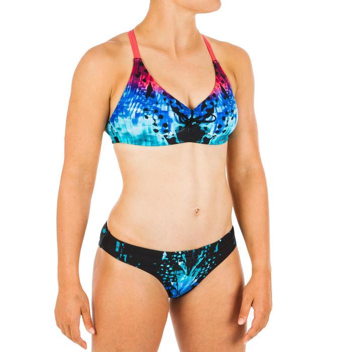 Bikinibroekje voor zwemmen dames Jana leo blauw/zwart