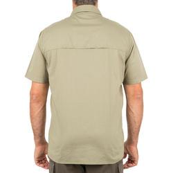 Overhemd 100 met korte mouwen voor de jacht lichtgroen