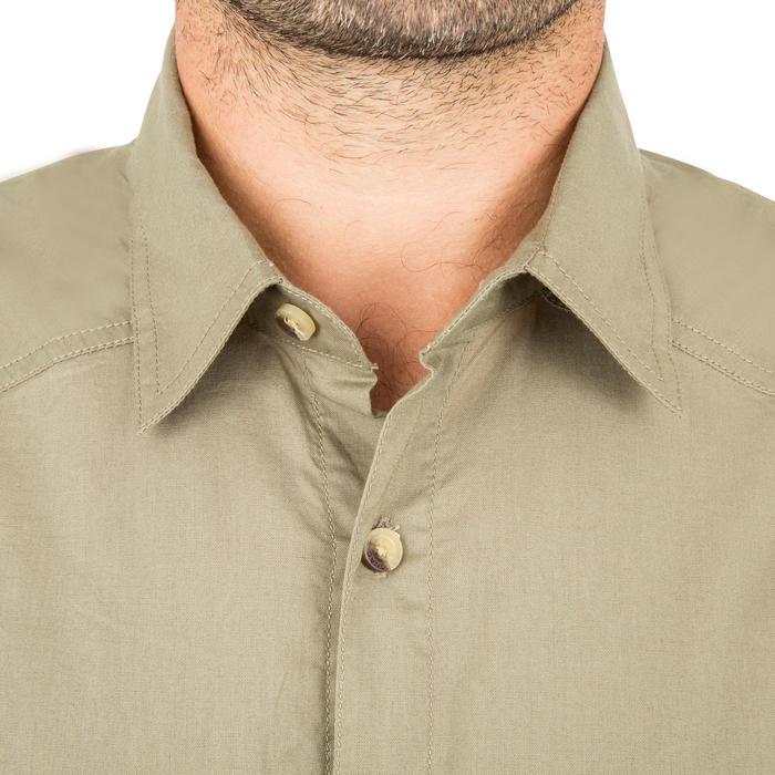 Camisa Caza Solognac Sg 100 Manga Corta Caqui