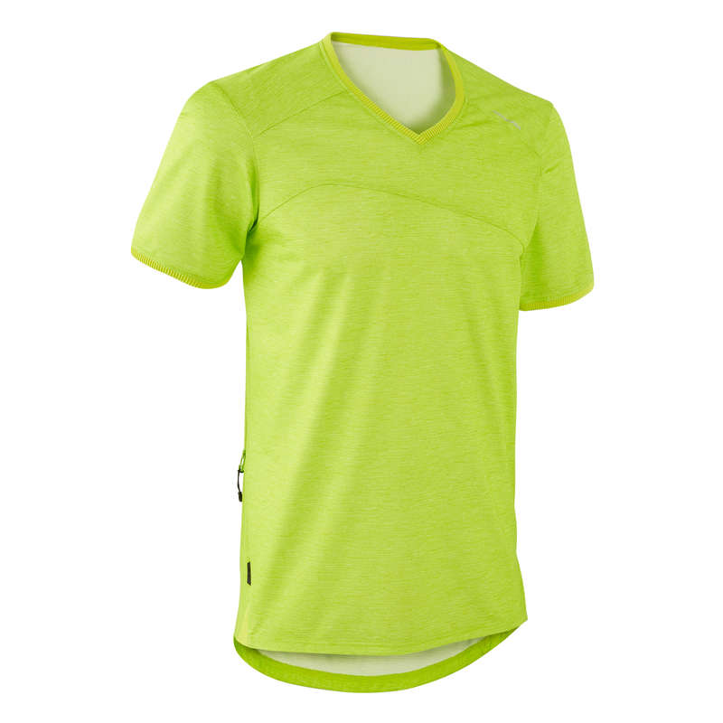 MEN WARM WEATHER ST MTB APPAREL Cycling - Men's Jersey ST 100 - Green ROCKRIDER - Cycling