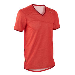 Short-Sleeved Mountain Bike Jersey ST 100 - Red