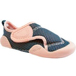 Turnschuhe atmungsaktiv Baby Light Babyturnen blau/rosa